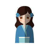 manga japonés de la muchacha linda - sombra Imagenes de archivo