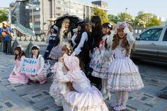 Manga Mädchen stockbild