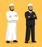 Manga Muslim Man Cartoon Vector illustration Arkivbild