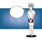 Manga Nurse Stroke Cartoon Vector illustration 1 royaltyfri illustrationer