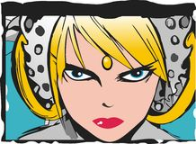 Manga portrait. A girl's portrait drawn in manga drawing characterised by wide eyes royalty free illustration