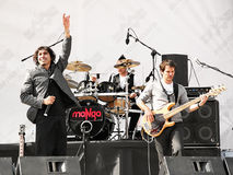 MANGA Rock Concert. MANGA performing live on the stage at Maltepe. Famous rock group will represent Turkey in the May 29th Eurovision contest in Oslo. April 25 Royalty Free Stock Photography