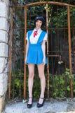 Manga Schoolgirl Stockfoto