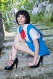 Manga Schoolgirl Foto de archivo libre de regalías