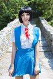 Manga Schoolgirl royaltyfri foto