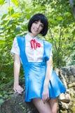 Manga Schoolgirl Arkivfoton
