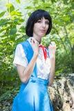 Manga Schoolgirl photographie stock
