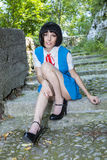 Manga Schoolgirl Imagen de archivo