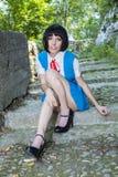 Manga Schoolgirl Stockbild