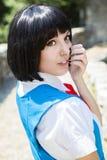 Manga Schoolgirl photos libres de droits