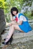 Manga Schoolgirl Photo stock
