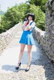 Manga Schoolgirl Stock Image
