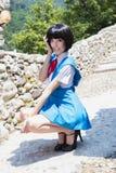 Manga Schoolgirl Stock Images
