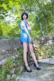 Manga Schoolgirl Stock Photo