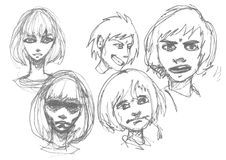 Manga sketch. Stock Photography
