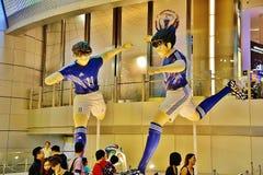 Manga Soccer Player Statues grande Imágenes de archivo libres de regalías