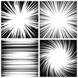 Manga Speed Lines Set Vector Grunge Ray Illustration Rebecca 36 Ruimte voor tekst De grappige achtergrond van boek radiale lijnen royalty-vrije illustratie