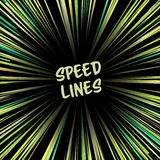 Manga Speed Lines Vector. Comic Radial Speed Lines. Ray And Acceleration. Otherworldly Visionary Illustration. Royalty Free Stock Photo