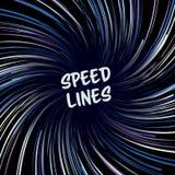 Manga Speed Lines Vector Disposición para los cómic Bandera con el ejemplo coloreado parte radial del efecto Explosión de Starbur Imagen de archivo