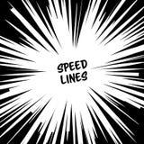 Manga Speed Lines Vector Grunge Ray Illustration svart white Utrymme för text Radiell bakgrund för komisk hastighet vektor illustrationer