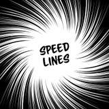 Manga Speed Lines Vector Grunge Ray Illustration svart white Utrymme för text Radiella linjer bakgrund för humorbok Manga Spee royaltyfri illustrationer