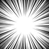 Manga Speed Lines Vector Grunge Ray Illustration svart white Utrymme för text Radiella linjer bakgrundsram för humorbok Supe stock illustrationer