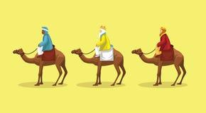Manga Style Cartoon Three Wisemen vektor stock illustrationer