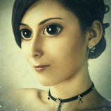 Manga style female portrait Royalty Free Stock Photography