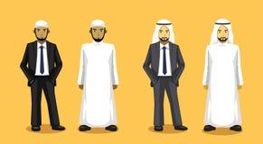 Manga Various Muslim Man Cartoon vektorillustration 1 royaltyfri illustrationer