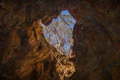 Mangabeira-Höhle, in Ituaçu, Chapada Diamantina stockfoto