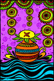 Mangal Kalash for Happy Dussehra. Easy to edit vector illustration of Mangal Kalash for Happy Dussehra in Indian art style background Stock Photos