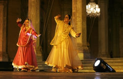 Mangala bhatt and Deepti Gupta perform kathak Royalty Free Stock Photos