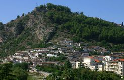 Mangalem, Berat, Albânia Foto de Stock Royalty Free