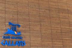 Mangalia, Constanta, Румыния - 7-ое июля 2017: Морское объявление Callatis клуба на порте Чёрного моря Mangalia в Румынии, Европе Стоковые Изображения RF