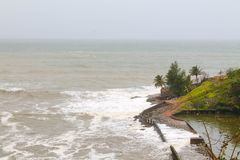 Mangalore beach view at murudeshwara Royalty Free Stock Image