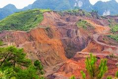 Manganese ore Mining. The mountain is the Manganese ore royalty free stock photo
