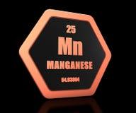 Manganu chemicznego elementu okresowego stołu symbol 3d odpłaca się ilustracji