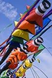Mangas de viento coloridas Imagenes de archivo