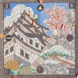 Mangatdekking bij het Kasteel van Nagoya stock afbeelding