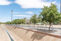 Mangaungs-Oval oder Kricketstadion in Bloemfontein Lizenzfreies Stockfoto