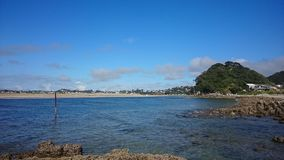 Mangawhai harbour. Pacific ocean beaches royalty free stock images