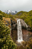 Mangawhero falls and Mount Ruapehu Royalty Free Stock Images