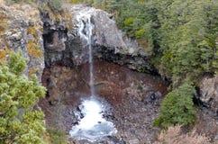 Mangawhero falls in Tongariro National Park. North Island of New Zealand Royalty Free Stock Image