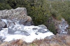 Mangawhero falls in Tongariro National Park. North Island of New Zealand Stock Images