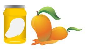 Mange and bottle packaging vector design. Mange and bottle packaging vector design Stock Photo