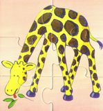 mange la savane de giraffe Image stock