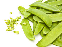 Mange Tout (Snow peas) pods Stock Photos