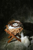 Manger With Crown of Thorns Royalty Free Stock Photography