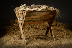 Manger with Crown of Thorns Royalty Free Stock Images