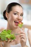 Manger de la nourriture saine Photographie stock